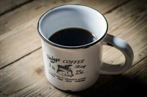 decaled coffee cup